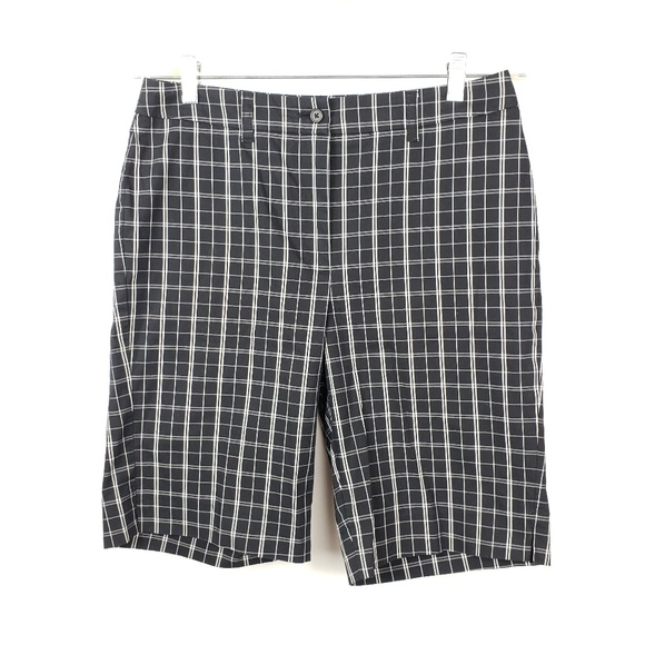 Anne Klein Sport Pants - Anne Klein Sport Stretch Bermuda Plaid Shorts EUC